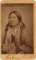 Photography:CDVs, Carte de Visite Picturing Kicking Bird. ...