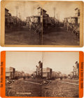 Photography:Stereo Cards, Leadville, Colorado: Two Stereoviews. ... (Total: 2 Items)