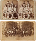 Photography:Stereo Cards, Stereoviews Picturing Ute Indians. ... (Total: 2 Items)