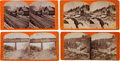 Photography:Stereo Cards, Stereoviews Picturing Views of the Central Pacific Railroad. ... (Total: 4 Items)