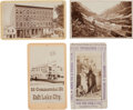 Photography:CDVs, Salt Lake City, Utah, and Surrounding Area: Group of Four Cartes de Visite.... (Total: 4 Items)