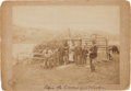 Photography:Official Photos, Alaskan Family with Census Taker: Mounted Albumen Photo. ...