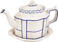Antiques:Decorative Americana, Castleford Teapot and Undertray with Silver Dollar Eagle Design....