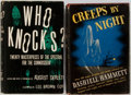 Books:Horror & Supernatural, [Spooky Compilations]. Two Books of Scary Stories, Selected by Dashiell Hammett and August Derleth. Who Knocks? is a... (Total: 2 Items)