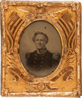 Photography:Ambrotypes, Winfield Scott: Patriotic Sixth-Plate Ambrotype....