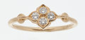 Luxury Accessories:Accessories, Cartier Diamond & 18k Yellow Gold Flower Ring. ...