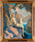 "Art:Illustration Art - Mainstream, Maxfield Parrish: Night is Fled Color Print, 13.25"" x16.5""...."