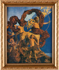 "Art:Illustration Art - Mainstream, Maxfield Parrish: Jason and His Teacher Color Print, 9"" x11""...."