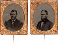 Political:Ferrotypes / Photo Badges (pre-1896), Grant & Colfax: Mint Matched Pair of Oversized Ferro Pins....(Total: 2 Items)