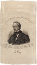 Political:Ribbons & Badges, Henry Clay: An Unusual Ribbon Variety with Great Quote....