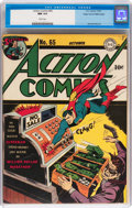 Golden Age (1938-1955):Superhero, Action Comics #65 Mile High pedigree (DC, 1943) CGC NM 9.4 White pages....