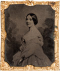 Photography:Tintypes, Mrs. Jefferson Davis: A Rare Abbott Tintype of the First Lady of the Confederacy. ...