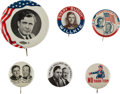 Political:Pinback Buttons (1896-present), Willkie & McNary: Six Pins Including Jugates.... (Total: 6 Items)
