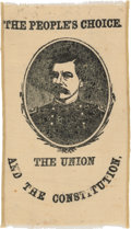 Political:Ribbons & Badges, George B. McClellan: An Extremely Rare 1864 Campaign Ribbon with Great Slogans. ...