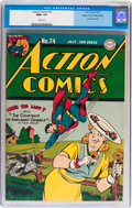 Golden Age (1938-1955):Superhero, Action Comics #74 Mile High pedigree (DC, 1944) CGC NM+ 9.6 White pages....