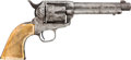 Handguns:Single Action Revolver, Colt Single Action: A Very Attractive Engraved Colt with Factory Letter. ...