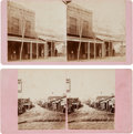 Photography:Stereo Cards, Stereoviews Picturing Sonora, California. ... (Total: 2 Items)