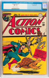 Action Comics #75 Crowley Copy pedigree (DC, 1944) CGC NM- 9.2 Off-white to white pages
