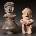 Pre-Columbian:Ceramics, TWO ECUADORIAN FIGURES. c. 600 - 1100 AD... (Total: 2 )