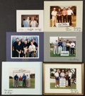 Football Collectibles:Photos, Dallas Cowboys Greats Signed Photographs Lot of Six....