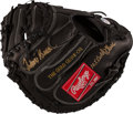Baseball Collectibles:Others, Johnny Bench Signed Catcher's Mitt. ...