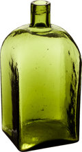 Antiques:Decorative Americana, Sloping Neck Dark Green Unmarked Bottle,...