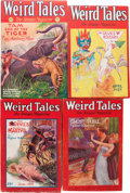 Pulps:Horror, Weird Tales - H. P. Lovecraft Group (Popular Fiction, 1928-37)....(Total: 7 Items)