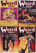 Pulps:Horror, Weird Tales Group (Popular Fiction, 1937) Condition: AverageFN-.... (Total: 9 Items)