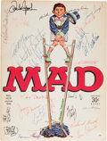 Memorabilia:MAD, MAD #103 Autographed by Entire EC Staff (EC, 1966)....