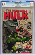 Silver Age (1956-1969):Superhero, The Incredible Hulk #5 Don/Maggie Thompson Collection pedigree(Marvel, 1963) CGC NM 9.4 White pages....