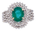 Estate Jewelry:Rings, AN EMERALD, DIAMOND, GOLD RING. ...