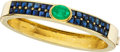 Estate Jewelry:Bracelets, Emerald, Sapphire, Gold Bracelet, French. ...