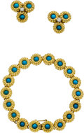 Estate Jewelry:Suites, Turquoise, Diamond, Gold Jewelry Suite. ...