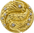 Estate Jewelry:Brooches - Pins, Diamond, Gold, Platinum Brooch, David Webb. ...