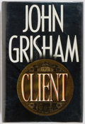 Books:Fiction, John Grisham. INSCRIBED. The Client. Doubleday, 1993. Fifthprinting. Inscribed by the author on the half-title ...
