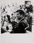 Political:Small Paper (1896-present), John F. Kennedy: Classic Jacques Lowe Photograph....