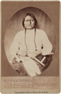 Photography:Studio Portraits, Sitting Bull: An Unusual 1882-dated Cabinet Photo. ...