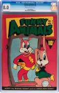 Golden Age (1938-1955):Funny Animal, Funny Animals #5 (Fawcett Publications, 1943) CGC VF 8.0 Cream tooff-white pages....