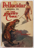 Books:Science Fiction & Fantasy, Edgar Rice Burroughs. Pellucidar. Grosset & Dunlap, 1923. Illustrated by J. Allen St. John. Publisher's original...