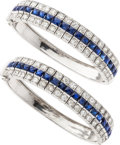 Estate Jewelry:Bracelets, Sapphire, Diamond, Platinum, White Gold Bracelets. ...