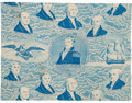 Political:Textile Display (pre-1896), Andrew Jackson: Roller Printed Inauguration Fabric. ...