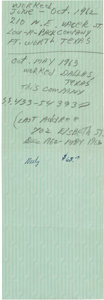 Autographs:Celebrities, [John F. Kennedy]: Lee Harvey Oswald Annotated Pay Stub....