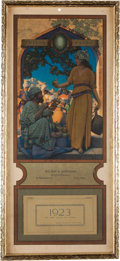 Art:Illustration Art - Mainstream, Maxfield Parrish: Lamp Seller of Bagdad Color Print, 1923Edison Mazda Calendar,...