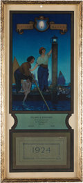 Art:Illustration Art - Mainstream, Maxfield Parrish: The Venetian Lamplighter Color Print, 1924Edison Mazda Calendar,...