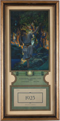 Art:Illustration Art - Mainstream, Maxfield Parrish: Dream Light Color Print, 1925 Edison Mazda Calendar,...