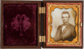 Photography:Ambrotypes, Abraham Lincoln: Ninth-Plate Photograph on Milk Glass....