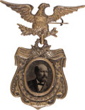Political:Ferrotypes / Photo Badges (pre-1896), James A. Garfield: Superb Ferrotype Badge. ...
