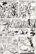 Original Comic Art:Covers, Jack Kirby and Dan Adkins Captain America #104 Page 12 Original Art (Marvel, 1968)....