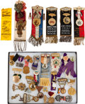 Miscellaneous:Ephemera, Fraternal Badges and Ribbons.... (Total: 2 Items)
