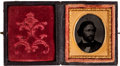 Political:Ferrotypes / Photo Badges (pre-1896), John C. Frémont: Cased Sixteenth Plate Ambrotype....